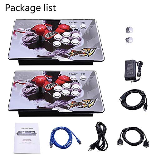 Retro Arcade Video Games Console - 2350 Games in Pandora Treasure 3D Box ,2 Players Joysticks Arcade Machine for Home, 1920x1080 HD Output(Double Console) by AOLODA (Image #5)