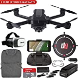 Yuneec Mantis Q Foldable Drone with 4K UHD Camera and WiFi Remote Mobile Go Kit Landing Pad, VR FPV Goggles, Backpack, High Speed Memory Card & One Year Warranty Extension Bundle