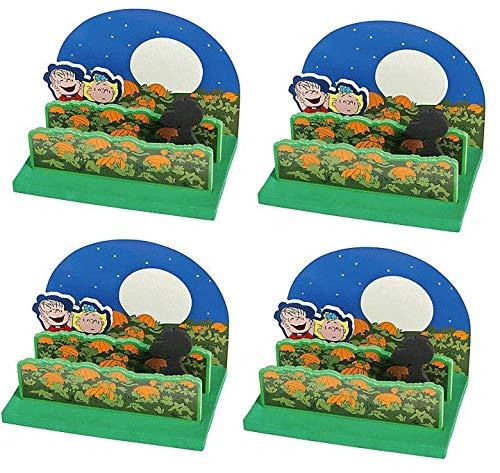 Peanuts Worldwide 3D Halloween Great Pumpkin Scene Craft Kit Snoopy Linus Sally, Set of 4]()