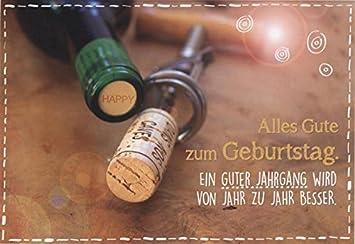 Geburtstagskarte Manner Weinflasche Alles Gute Zum Geburtstag