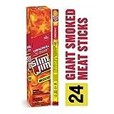 Slim Jim Giant Smoked Meat Stick, Original Flavor, Keto Friendly, .97 Oz. 24-Count