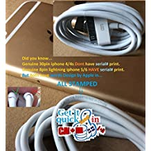 USB Charger Charging Data Cable iPad iPhone iPod Classic Nano Touch 2 3G 3Gs 4 4G 4S 5 - Quality as Original Genuine