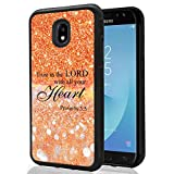 Samsung Galaxy J3 2018, J3V J3 V 3rd Gen,Express Prime 3, J3 Star, J3 Achieve, Amp Prime 3 Glitter Pattern Case, SuperbBeast Trust in the LORD with all your heart TPU Bumper Case