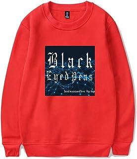Haililais Black Eyed Peas Felpe Stampate per Uomini e Donne Cappotto Sciolto Maglione Rotondo Collo Casual Maglie Sportiva Comode