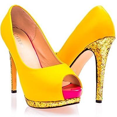 fcc2d432f75 Ça Va Bien Fashion - Zapatos de vestir de piel sintética para mujer