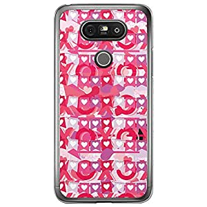 Loud Universe LG G5 Love Valentine Printing Files Valentine 153 Printed Transparent Edge Case - Pink