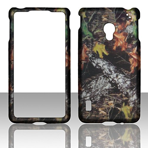 2D Camo Stem Mapple LG Lucid 2 II VS870 Verizon Case Cover Phone Snap on Cover Cases Protector Rubberized Frosted Matte Surface Hard Shells (Lg Lucid 2 Phone Cases)