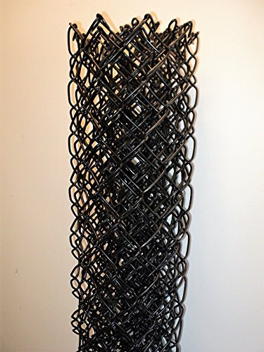 10' Long 4' High Section of Black OR Green Vinyl Coated Chain Link Fence Fabric 9 - Link Black Fence Chain