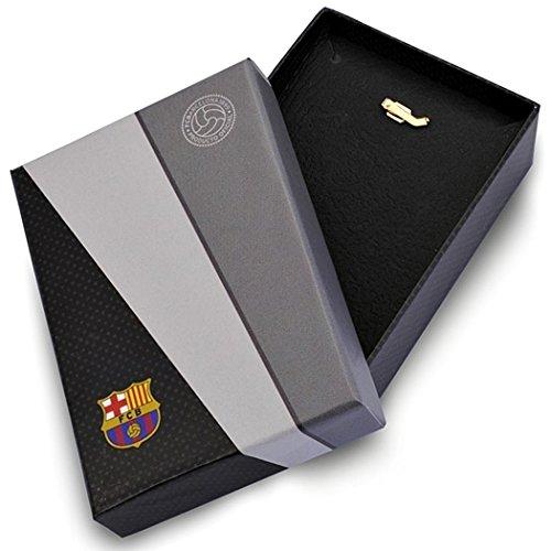 Bouclier pendentif F.C. Barcelona loi 28mm en or 18k. [8454] - Modèle: