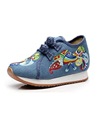 Tianrui Crown Girl's Embroidery Flower Traveling Shoes Sneaker Kid's Sport Canvas Shoe