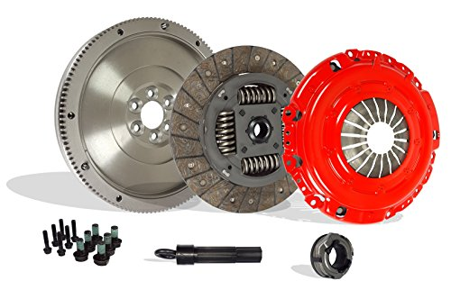 (Clutch Kit Works With With Flywheel Audi Tt Vw Golf Jetta Base Classic Base Gls Gti Tdi Gl Soportline 1998-2006 1.8L l4 1.9L l4 DIESEL 1.8L l4 GAS SOHC Turbocharged (Stage 1))