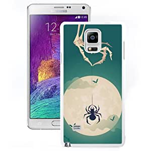 New Beautiful Custom Designed Cover Case For Samsung Galaxy Note 4 N910A N910T N910P N910V N910R4 With Halloween Theme Tricky (2) Phone Case