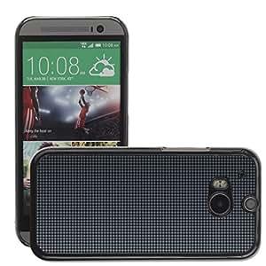 Super Stellar Slim PC Hard Case Cover Skin Armor Shell Protection // M00048742 gray mesh patterns aero // HTC ONE M8