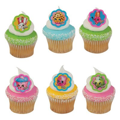 ShopkinsTM I Love ShopkinsTM Cupcake Rings - 24 ct - Decorations Rings Party Favors