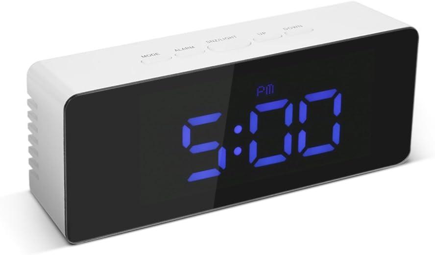 Amazon.com: Decdeal Digital LED Mirror Clock USB & Battery ...
