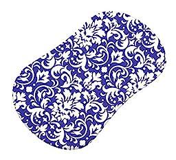 SheetWorld Fitted Bassinet Sheet (Fits Halo Bassinet Swivel Sleeper) - Purple Damask - Made In USA