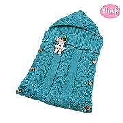 LANSHULAN Newborn Baby Blanket Toddler Sleeping Bag Sleep Sack Stroller Wrap (#05 Green)