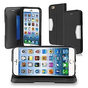 "Gear Wiz Apple 4.7"" iPhone 6 Leather Wallet Flip Cover Case - Black"