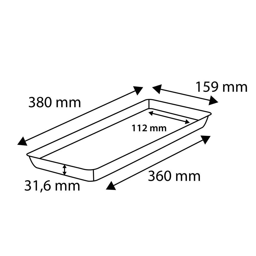RoTaPlastes Klassik Blumenkastenuntersetzer 38 cm anthrazit