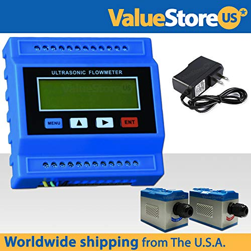 (TUF-2000M-TS-2 Ultrasonic Flow Meter Kit with Power Adapter for Pipe Size from 0.78 to 3.9 inches/ 15 to 100 mm.)