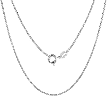 Sterling Silver Womens 1mm Box Chain Single Parent Family Child Pendant Necklace