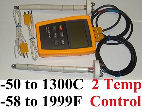 Digital pyrometer 2 Kiln Oven F,C pottery ceramic Glass Annealing Thermocouple by Tamsun