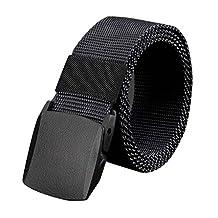 Belt Men's Canvas Outdoor No Metal Plastic Buckle Casual Jeans Training Waistband Bobury