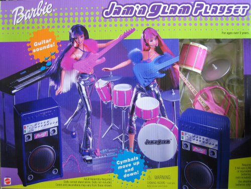 Barbie Jam 'n Glam Playset w Guitar Sounds & More! ()