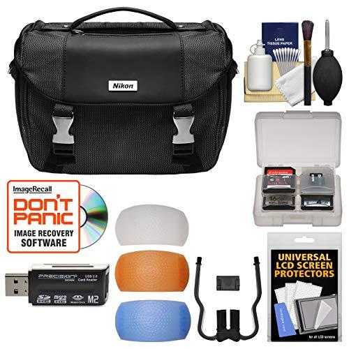 Nikon Deluxe Digital SLR Camera Case - Gadget Bag with Pop-up Filter Set + Kit for D610, D750, D810, D850, D7200, D7500, D5500, D5600, D3300, D3400