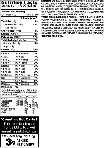 Atkins Protein-Rich Shake, Mocha Latte, 15 Count