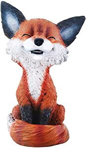 YTC Brown and Black Smiling Fox TeeHee Themed Decorative Figurine Statue