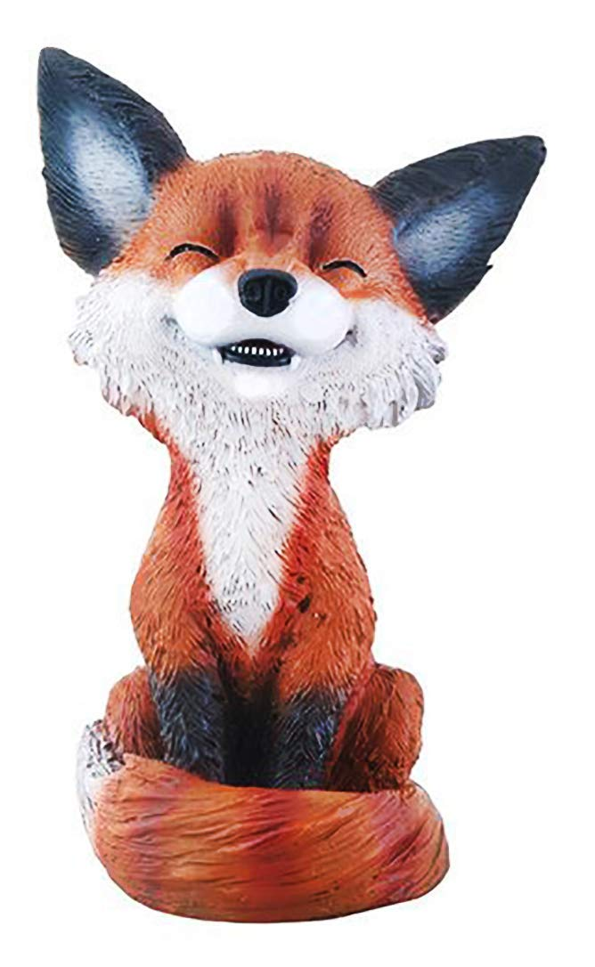 Mulandd YTC Brown and Black Smiling Fox TeeHee Themed Decorative Figurine Statue