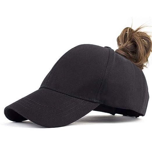 4f18c04a88a Women Girl Ponytail-Baseball-Hat Cap - Uv Sun Protection Cotton Messy Buns  Ponycaps