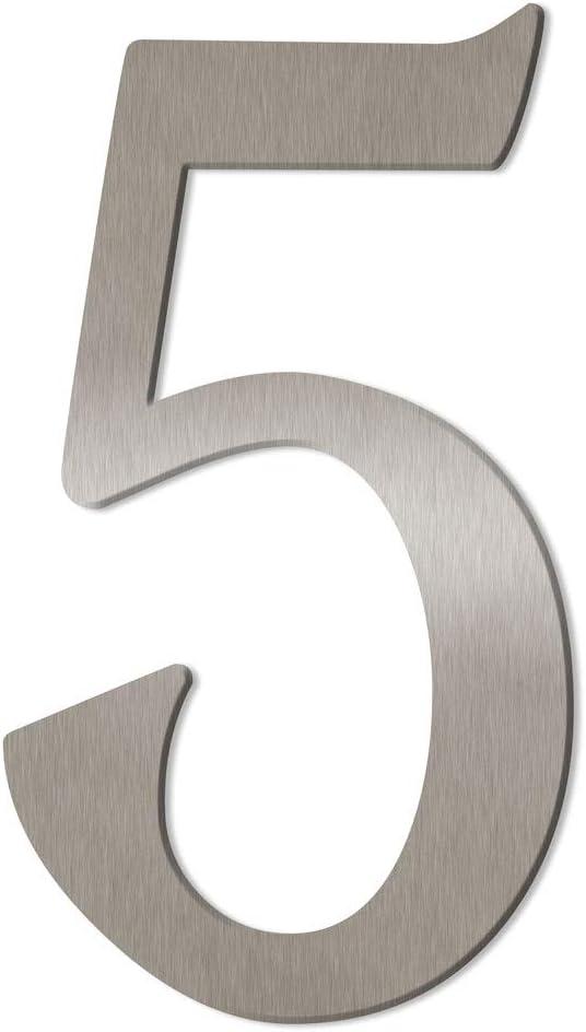 H: 160mm // 16cm a Edelstahl geb/ürstet//geschliffen Thorwa/® verschn/örkelte Design Edelstahl Hausnummer Cabaletta Stil