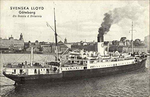 Svenska Lloyd Steamers Original Vintage Postcard