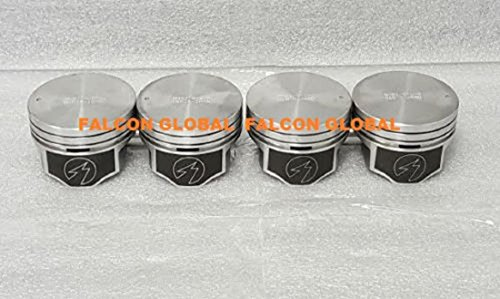 SET of (4) Flat Top Pistons compatible with Mercury Mercruiser 140 Chevy Marine 3.0 3.0L 181 (+.020