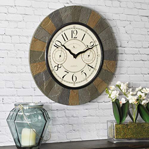 - FirsTime & Co. 99054 Slate Garden Wall Clock, 15.5
