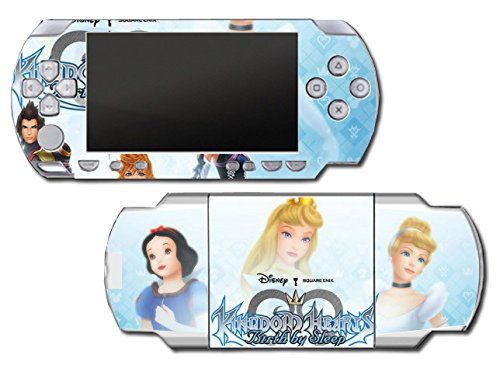 Kingdom Hearts Princess Cinderella Snow White Tinkerbell Birth By Sleep Tera Mickey Video Game Vinyl Decal Skin Sticker Cover for Sony PSP Playstation Portable Original Fat 1000 Series System (Snow Playstation Princess)
