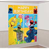 Sesame Street Elmo Scene Setters Wall Banner Decorating Kit Birthday Party Supplies