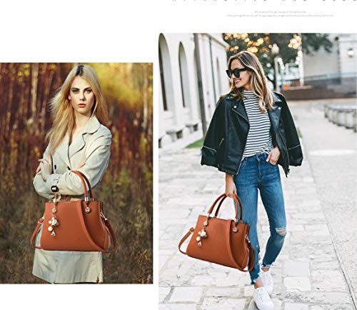Purses and Handbags for Women Fashion Ladies PU Leather Top Handle Satchel Shoulder Tote Bags