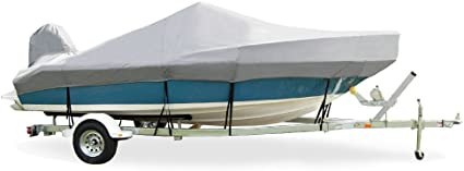 Trailerite Semi-Custom Boat Cover for Ski Boats with Outboard Motor Includes Motor Hood