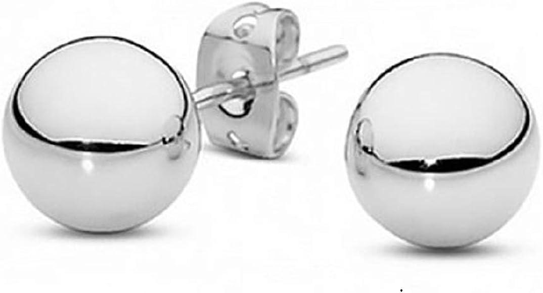100/% REAL 925 sterling silver BALL studs earrings BIG HUGE 11 12 14 16mm UNISEX