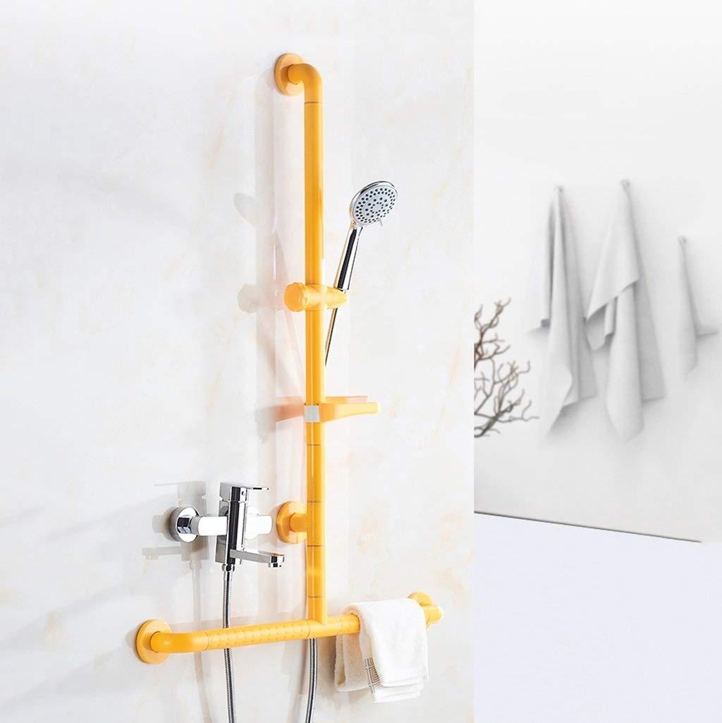 高齢者のための浴室のグラブ棒Tタイプ安全シャワーの手すりナイロン管70cm* イエロー 100cmが付いているステンレス鋼、シャワーブラケットが付いている多機能のシャワー室の安全滑り止めのarmrest (色 : イエロー (色 いえろ゜) イエロー : いえろ゜ B07PCPQBQN, FREEBOX:aa2f972f --- mail.carcarrierinterstate.com.au