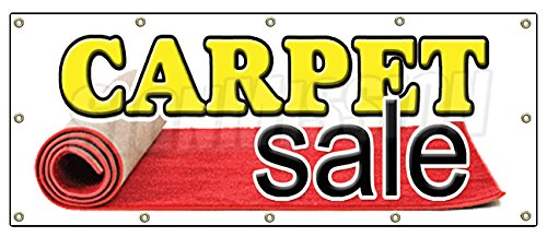 "48""x120"" CARPET SALE BANNER SIGN store carpeting signs rugs wall to wall"