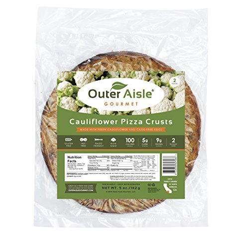 Outer Aisle Gourmet - (8 crusts) Cauliflower Pizza Crusts - Low Carb, Gluten Free, Paleo Friendly, Keto - 4 Pack (8 Crusts)