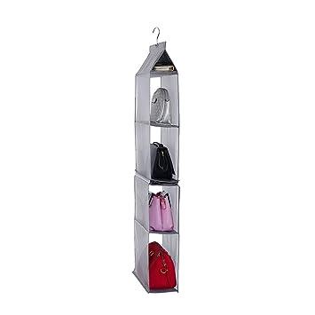 maggift para colgar organizador de bolso de mano, para colgar bolso de mano organizador para armario, nailon, gris, Large: Amazon.es: Hogar