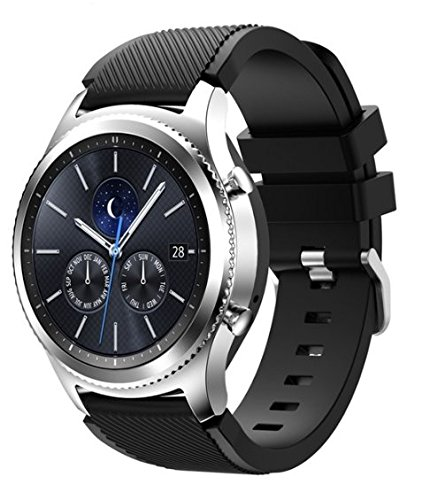 Samsung Galaxy Gear S3 R775 Classic Smartwatch (Bluetooth) (S3 Classic Black Silicone Band) (Certified Refurbished)