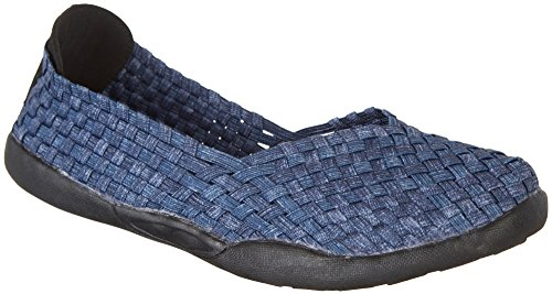 Coral Bay Womens Cameron Woven Slip on Shoes Navy Blue GiVmXqsZ