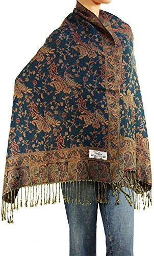 Falari Women's Woven Paisley Pashmina Shawl Wrap Scarf 80