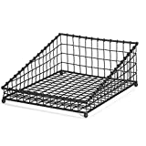 TableCraft Products GM1519 Angled Rectangle Display Basket, 15'' x 19.5'' x 2.5'', Black